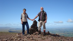 We made it! On the summit of Pen Y Fan...the view was breathtaking