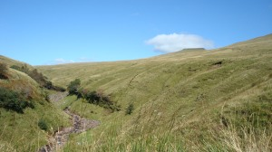 Corn Du looks a long way away from the start of the path!