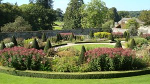 The Upper Walled Garden at Aberglasney in September sunshine