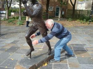 Jim trying out his tackling skills!