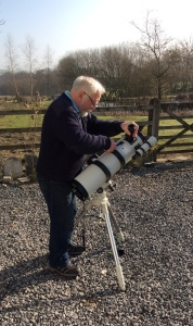 Setting up the telescope