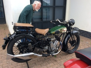 Jim, of course, found an interesting bike to inspect and enjoy!